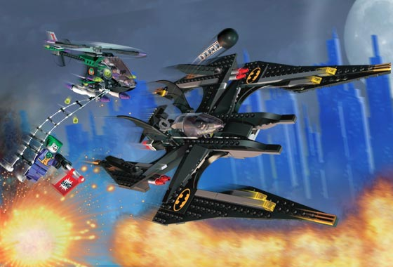 LEGO BATMAN THE JOKER/'S AERIAL ASSAULT Replacement STICKER SHEET Set 7782  *NEW*