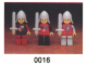 Set No: 0016  Name: Castle Mini Figures