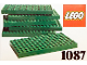 Set No: 1087  Name: 6 Lego Baseplates 8 x 16 Green