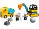 Set No: 10931  Name: Truck & Tracked Excavator