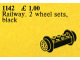 Set No: 1142  Name: Wheel Bricks with Small Black Train-Wheels