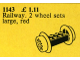 Set No: 1143  Name: Wheel Bricks with Large Red Train Wheels