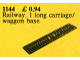 Set No: 1144  Name: Train Baseplate