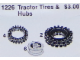 Set No: 1226  Name: Tractor Tires and Hubs