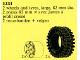 Set No: 1231  Name: X-Large Tires and Hubs
