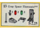 Set No: 13  Name: Gray Space Elements (Grey Space Elements)