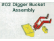 Set No: 2  Name: Digger Bucket Assembly