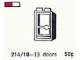 Set No: 214.10  Name: 1 x 2 x 4 Glass Door in Frame, Left