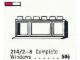 Set No: 214.2  Name: 1 x 6 x 2 Triple-Pane Window in Frame