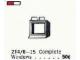 Set No: 214.6  Name: 1 x 2 x 2 Window in Frame