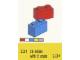 Set No: 221  Name: 1 x 2 Bricks