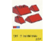 Set No: 281  Name: 1 x 2 and 3 x 2 Sloping Bricks, Red