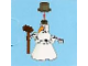 Set No: 2824  Name: Advent Calendar 2010, City (Day  1) Snowman with Push Broom
