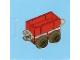 Set No: 2824  Name: Advent Calendar 2010, City (Day 19) - Toy Train Car, Red