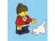 Set No: 2824  Name: Advent Calendar 2010, City (Day  6) Girl with Cat