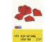Set No: 283  Name: Sloping Ridge and Valley Bricks, Red