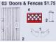 Set No: 3  Name: Doors and Fences