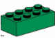 Set No: 3461  Name: 2 x 4 Dark Green Bricks
