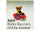 Set No: 3605  Name: Ricky Raccoon and his Scooter