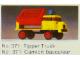 Set No: 371  Name: Tipper Truck