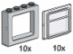 Set No: 3733  Name: Gray Windows with Clear Panes