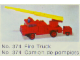 Set No: 374  Name: Fire Engine