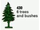 Set No: 430  Name: Six Trees and Bushes (The Building Toy)
