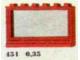 Set No: 451  Name: 1 x 6 x 3 Window, Red or White