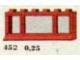 Set No: 452  Name: 1 x 6 x 2 Window, Red or White