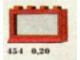 Set No: 454  Name: 1 x 4 x 2 Window, Red or White