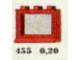 Set No: 455  Name: 1 x 3 x 2 Window, Red or White