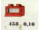 Set No: 458  Name: 1 x 2 x 1 Window, Red or White