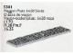 Set No: 5301  Name: Wagon Plate 6 x 28