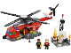Set No: 60010  Name: Fire Helicopter (Studs on Side Version)