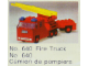 Set No: 640  Name: Fire Truck