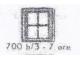 Set No: 700.B.3  Name: Individual 1 x 2 x 2 Window (without glass)