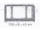 Set No: 700.C.2  Name: Individual 1 x 6 x 3 3-Pane Window (with glass)