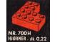 Set No: 700.H  Name: Individual 4 x 4 Corner Bricks