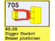 Set No: 705  Name: Digger Bucket