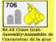 Set No: 706  Name: Crane Grab Assembly