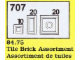 Set No: 707  Name: Tile Brick Assortment