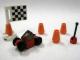 Set No: 7687  Name: Advent Calendar 2009, City (Day 20) - RC Car, Cones and Flag