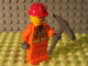 Set No: 7907  Name: Advent Calendar 2007, City (Day  4) - Construction Worker and Pickaxe