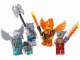 Set No: 850913  Name: Fire and Ice Minifigure Accessory Set blister pack