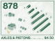 Set No: 878  Name: Piston Parts (Axles & Pistons)