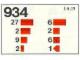Set No: 934  Name: Roof Bricks, 45 Degrees