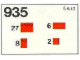 Set No: 935  Name: Roof Bricks, 33 Degrees