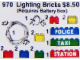 Set No: 970  Name: Lighting Bricks