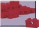 Set No: 970013  Name: 1 x 2 Red Beam (Pack of 50)
