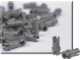 Set No: 970022  Name: Dark Gray Connector Peg 1-1/2 (Pack of 100)